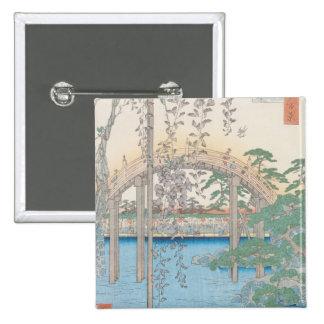Le pont avec des glycines ou Kameido Tenjin Badges