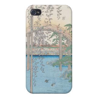 Le pont avec des glycines ou Kameido Tenjin Coque iPhone 4 Et 4S