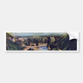 Le pont chez Narni par Corot Jean-Baptiste-Camille Autocollant De Voiture