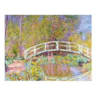 Le pont dans le jardin de Monet par Claude Monet Carte Postale