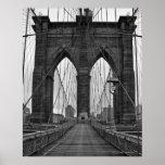 Le pont de Brooklyn à New York City Affiche