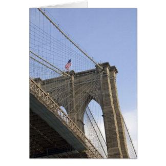 Le pont de Brooklyn à New York City, nouveau Carte De Vœux