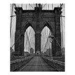 Le pont de Brooklyn à New York City Posters