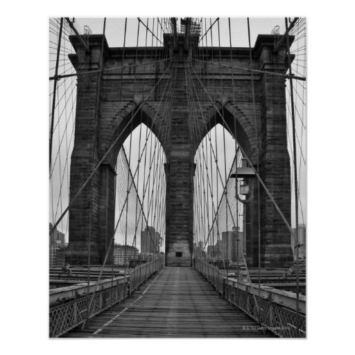 le pont de brooklyn new york city posters zazzle. Black Bedroom Furniture Sets. Home Design Ideas