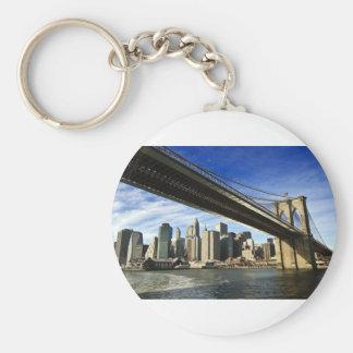 Le pont de Brooklyn Porte-clé Rond
