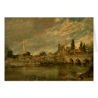 Le pont de Harnham et de cathédrale de Salisbury Carte De Vœux