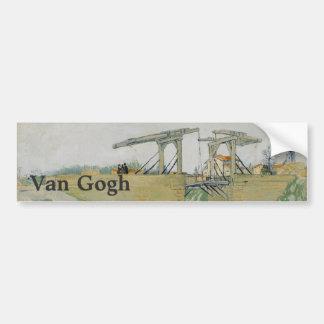 Le pont de Langlois par Vincent van Gogh Autocollants Pour Voiture