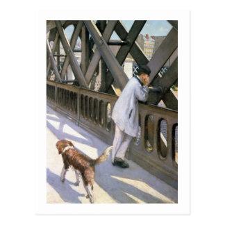 Le Pont de L'Europe : détail d'un homme et d'un a Carte Postale