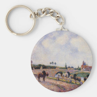 Le pont de Pontoise par Camille Pissarro Porte-clé Rond