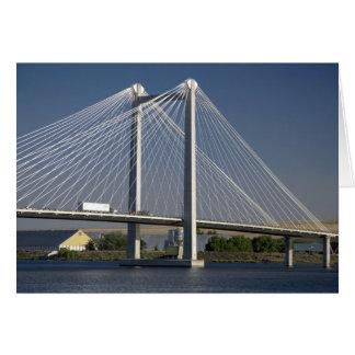 Le pont d'Ed Hendler enjambe le fleuve Columbia Carte De Vœux