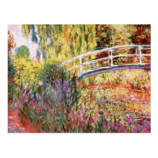 Le pont et les fleurs de Monet Carte Postale