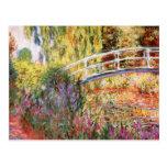 Le pont et les fleurs de Monet Cartes Postales
