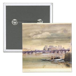 Le Pont-Neuf et l'Ile de la Cite, 1881 Pin's