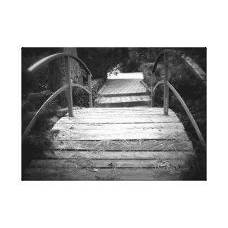 Le pont noir et blanc toile