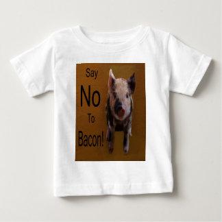 """Le porcelet mignon """"indiquent non au lard """" t-shirt pour bébé"""