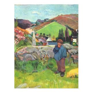 Le porcher - Paul Gauguin Carte Postale