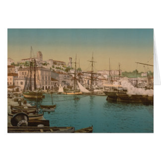 Le port à Cannes, France Carte De Vœux