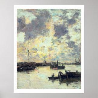 Le port, c.1895 (huile sur le panneau) posters
