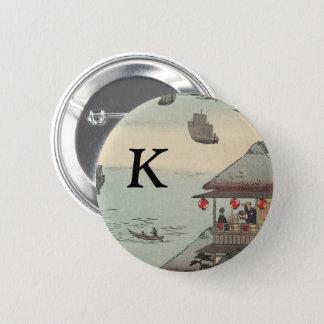 Le port chez Kanagawa, Japon : Monogramme Badge