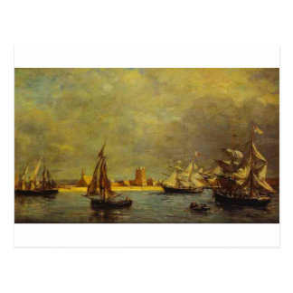 Le port de Camaret par Eugene Boudin Carte Postale