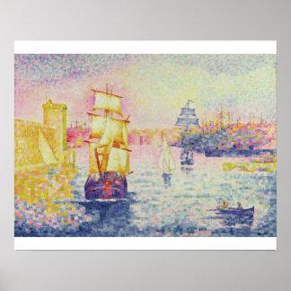 Le port de Marseille, c.1909 (huile sur la toile) Posters