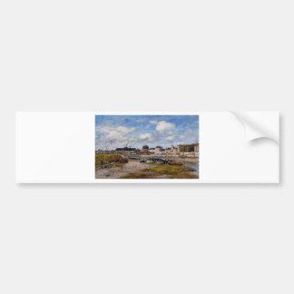 Le port de Trouville, marée basse par Eugene Autocollant De Voiture