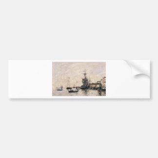 Le port de Trouville par Eugene Boudin Autocollant De Voiture
