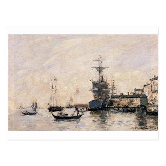 Le port de Trouville par Eugene Boudin Carte Postale