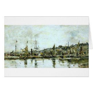 Le port du Bordeaux par Eugene Boudin Carte De Vœux