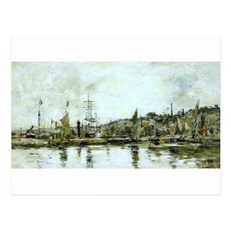 Le port du Bordeaux par Eugene Boudin Carte Postale