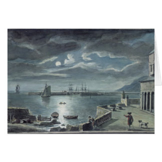 Le port et le Cobb, Lyme REGIS par clair de lune Cartes