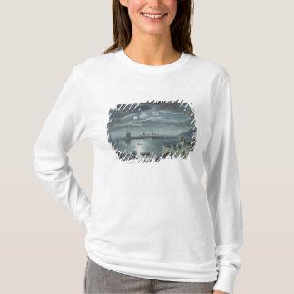 Le port et le Cobb, Lyme REGIS par clair de lune T-shirt