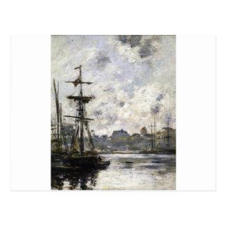 Le port, Fecamp par Eugene Boudin Carte Postale