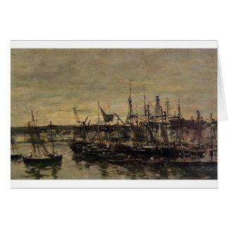 Le port Portrieux par Eugene Boudin Carte De Vœux