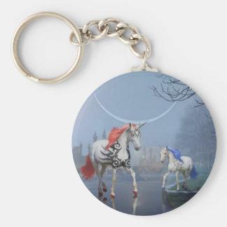Le porte - clé de licornes porte-clé rond