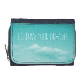 Le portefeuille | de filles de bleu de turquoise