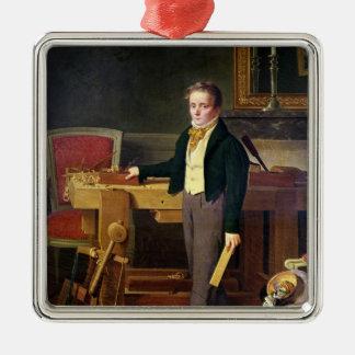 Le portrait a présumé d'être Alfred de La Chaussee Ornement Carré Argenté