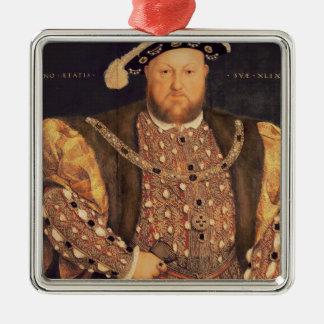 Le portrait de Henry VIII a vieilli 49, 1540 Ornement Carré Argenté