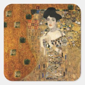 Le portrait de Klimt d'Adele Bloch-Bauer Sticker Carré