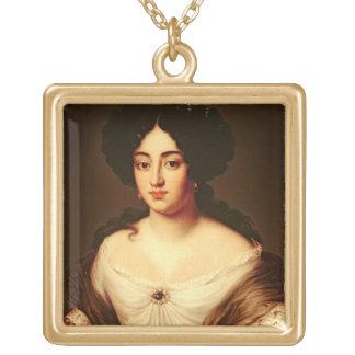 Le portrait de Madame, a indiqué pour être Marie-A Pendentif Carré