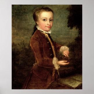 Le portrait de Wolfgang Amadeus Mozart a vieilli Affiches