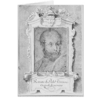 Le portrait d'un homme a présumé d'être Veronese Carte De Vœux
