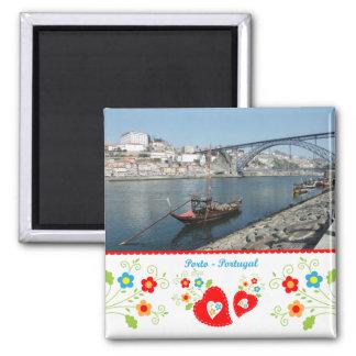 Le Portugal en photos - Porto par la rivière Magnet Carré