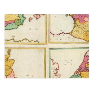 Le Portugal, Espagne, Allemagne, Angleterre, Carte Postale