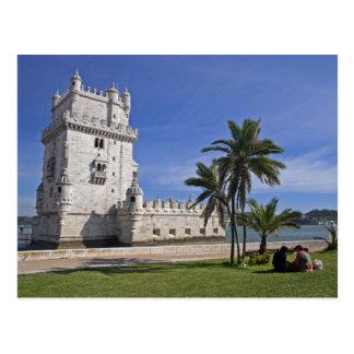 Le Portugal, Lisbonne. Tour de Belem, un monde 2 Carte Postale