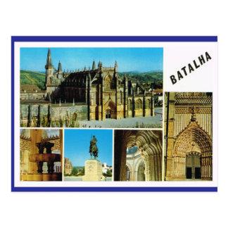 Le Portugal vintage Batalha, palais impérial Carte Postale