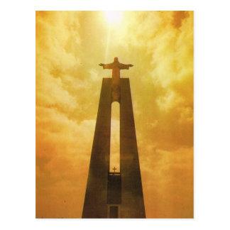 Le Portugal vintage, Lisbonne, église du Christ le Carte Postale