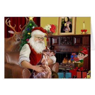 Le poseur irlandais de Père Noël Carte De Vœux