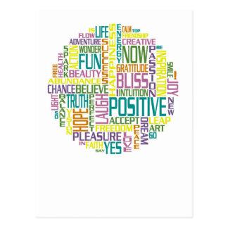 Le positif exprime la carte postale