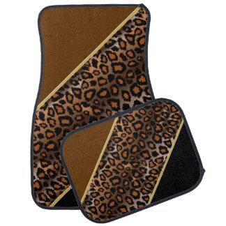 Le poster de animal | Brown de Jaguar | Tapis De Voiture